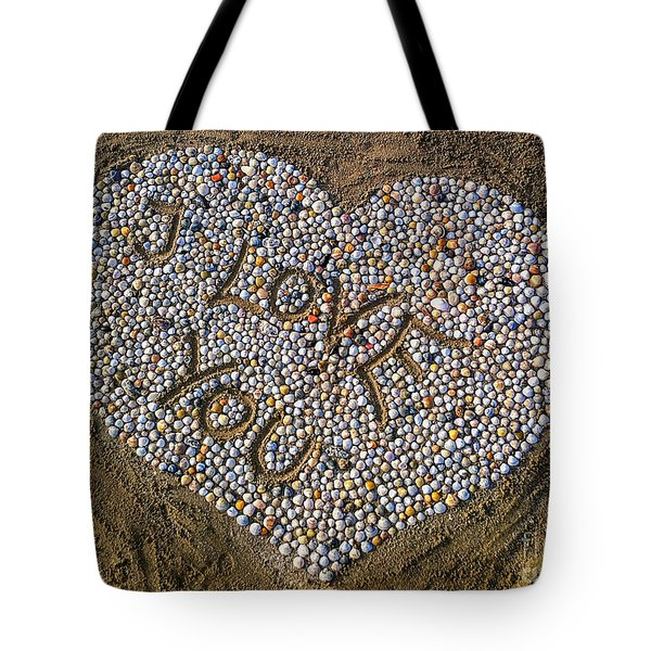 I Love You Tote Bag by Hannes Cmarits