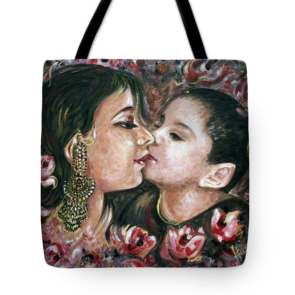 Tote Bag featuring the painting I Love You Mom by Harsh Malik