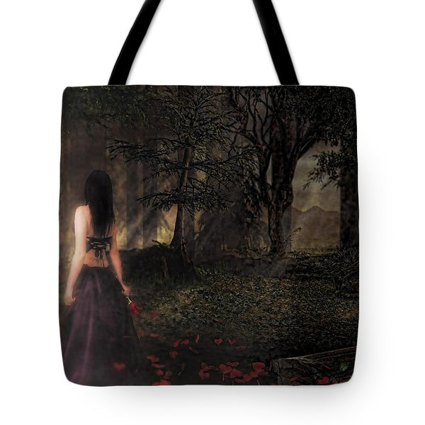 I Love You To Death Tote Bag by Kristie  Bonnewell