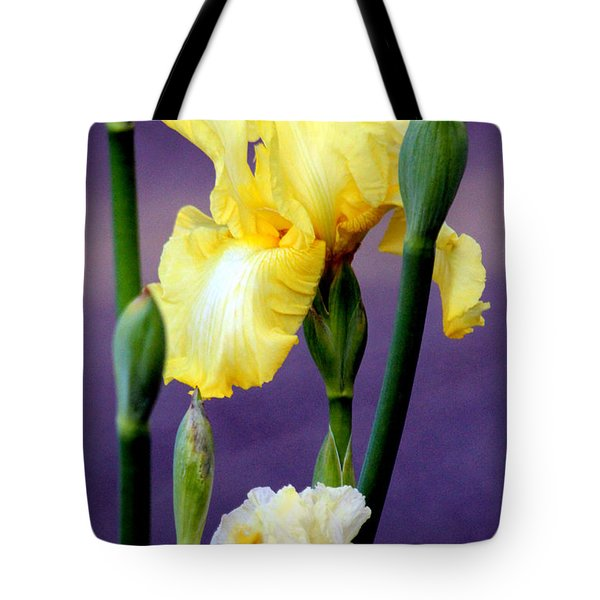 I Only Have Iris For You Tote Bag by Kathy  White
