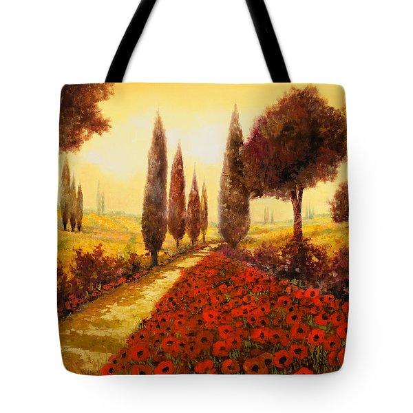 I Papaveri In Estate Tote Bag by Guido Borelli