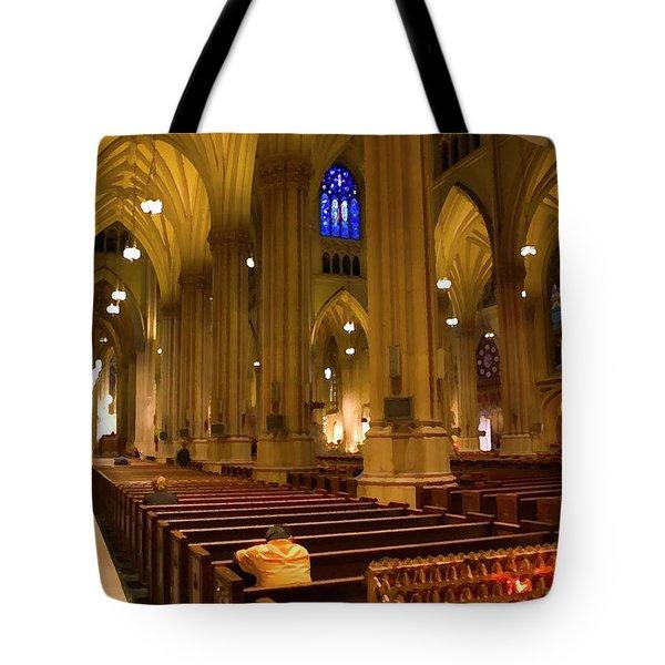 I Pray Tote Bag by Karol Livote