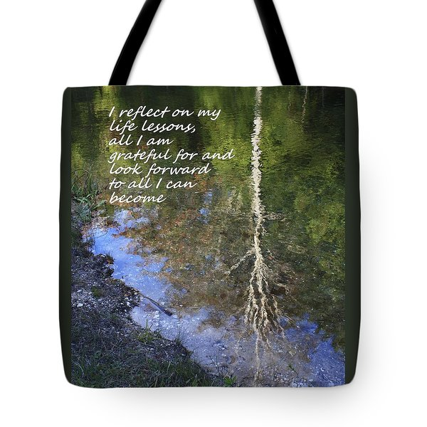 Tote Bag featuring the photograph I Reflect by Patrice Zinck