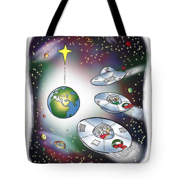We Three Spacemen Tote Bag