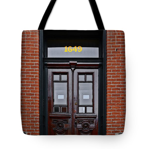 I See A Red Door Tote Bag by Christine Till
