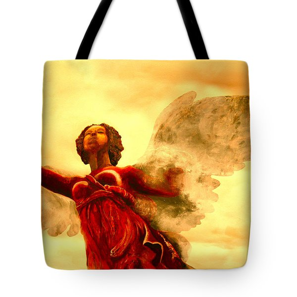 I See My Angel Coming Forth Tote Bag
