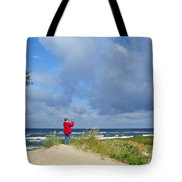 I See The Sea. Juodkrante. Lithuania Tote Bag by Ausra Huntington nee Paulauskaite