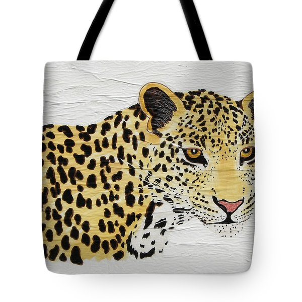 Tote Bag featuring the painting I See You 2 by Stephanie Grant