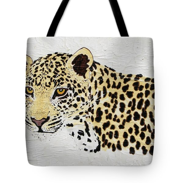 Tote Bag featuring the painting I See You by Stephanie Grant