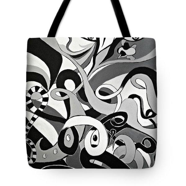 Black And White Acrylic Painting Original Abstract Artwork Eye Art  Tote Bag