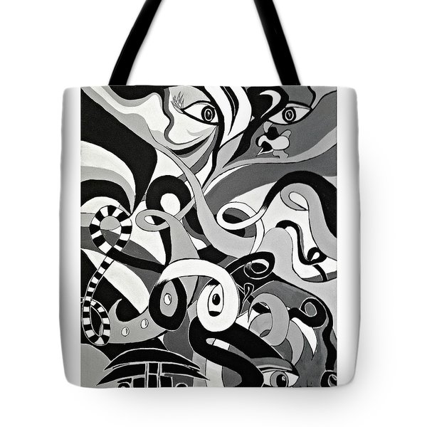 Black And White Acrylic Painting Original Abstract Artwork Eye Art  Tote Bag