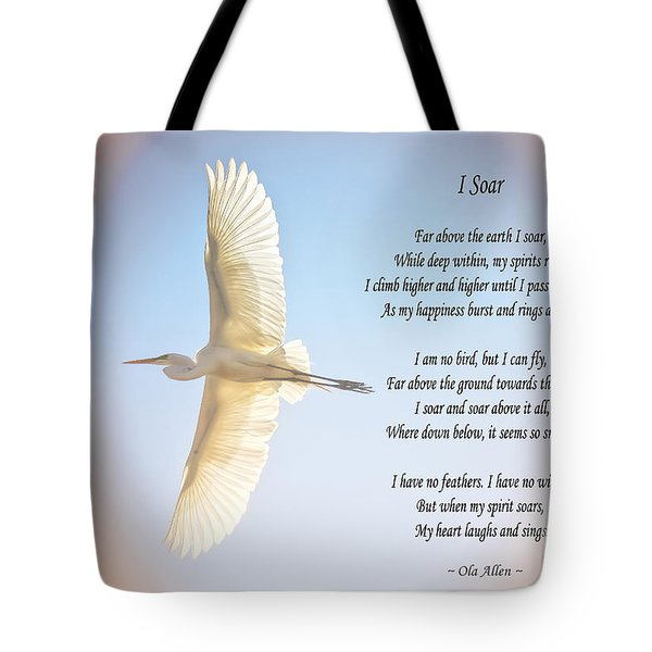 Tote Bag featuring the photograph I Soar  by Ola Allen
