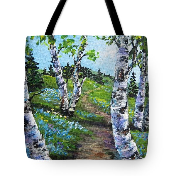 I Think I Will Walk Tote Bag by Megan Walsh