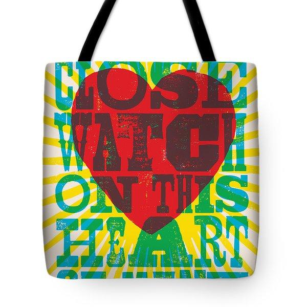 I Walk The Line - Johnny Cash Lyric Poster Tote Bag