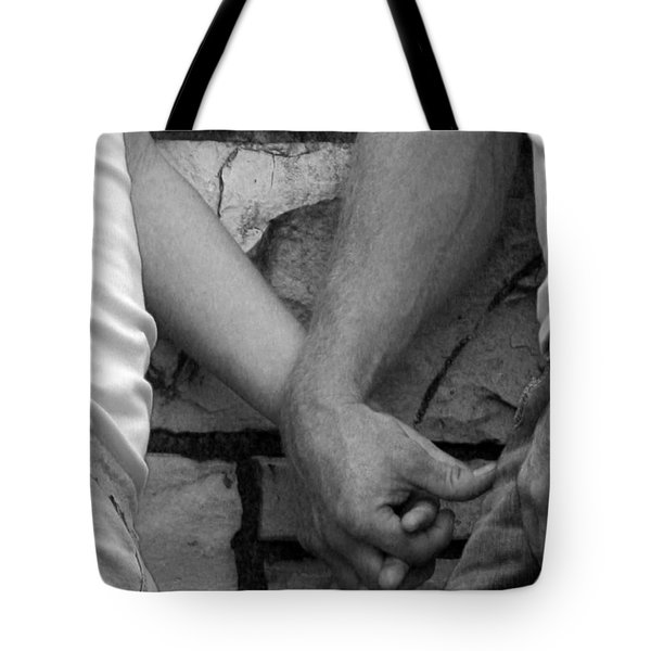 Tote Bag featuring the photograph I Wanna Hold Your Hand by Lesa Fine