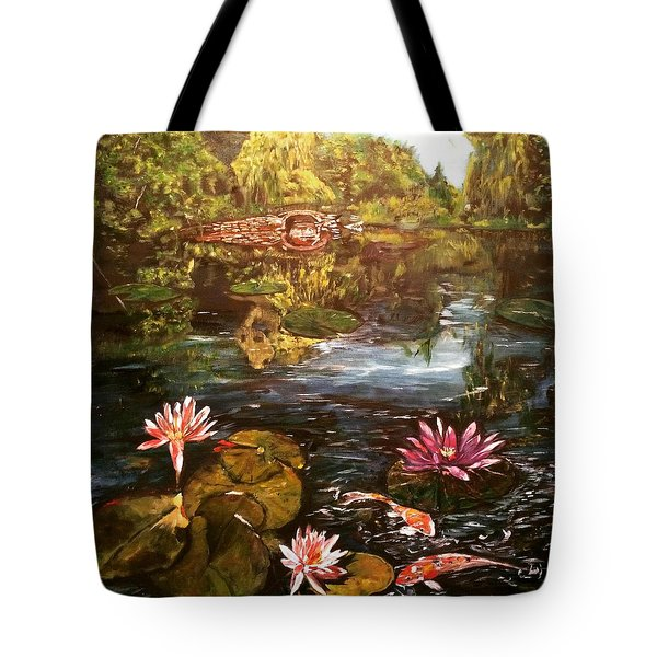 Tote Bag featuring the painting I Want To Be Where You Are by Belinda Low