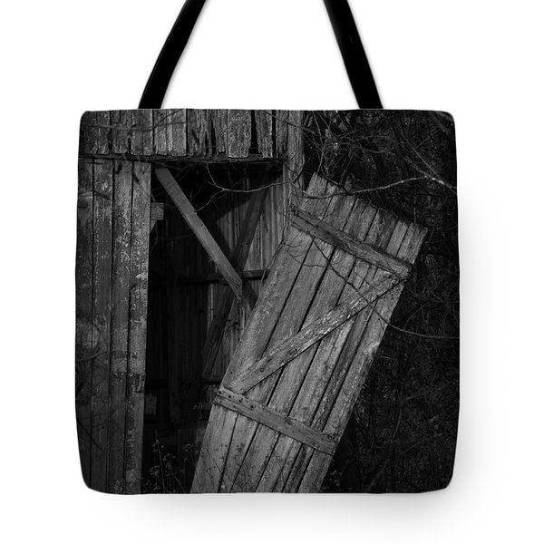 Tote Bag featuring the photograph I Watched You Disappear - Bw by Rebecca Sherman