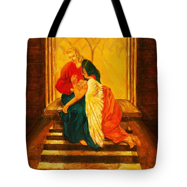 I Will Carry You Through Tote Bag