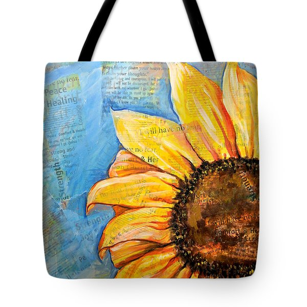 I Will Have No Fear Sunflower Tote Bag