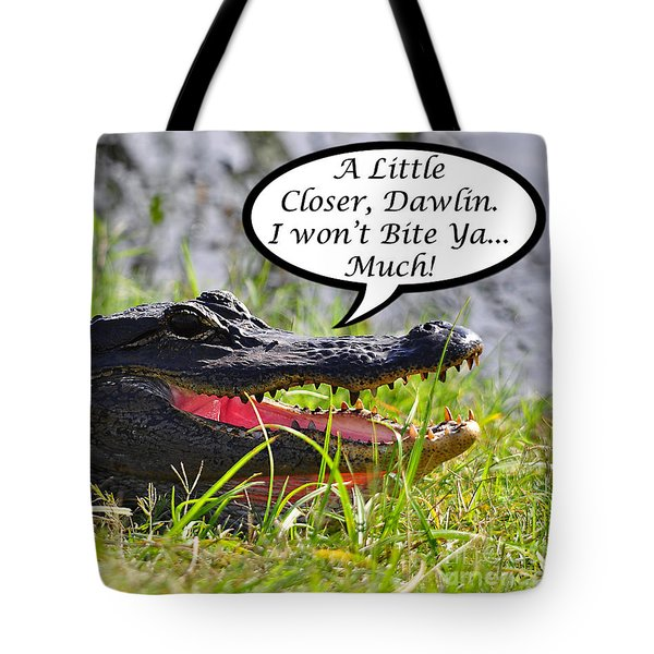 I Won't Bite Greeting Card Tote Bag by Al Powell Photography USA