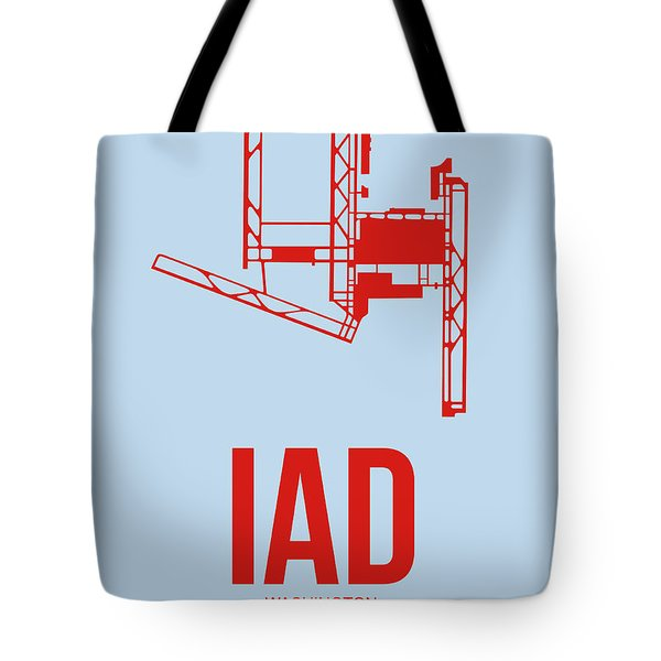 Iad Washington Airport Poster 2 Tote Bag by Naxart Studio