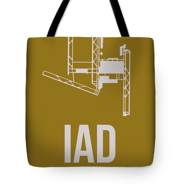Iad Washington Airport Poster 3 Tote Bag by Naxart Studio