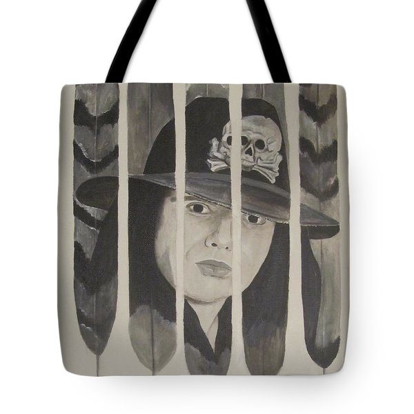 Tote Bag featuring the painting Ian Astbury by Jeepee Aero