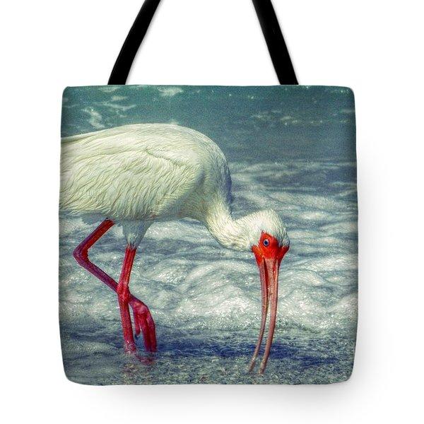 Ibis Feeding Tote Bag by Valerie Reeves