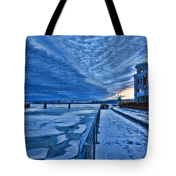 Ice Station Hudson Tote Bag by Jeffrey Friedkin