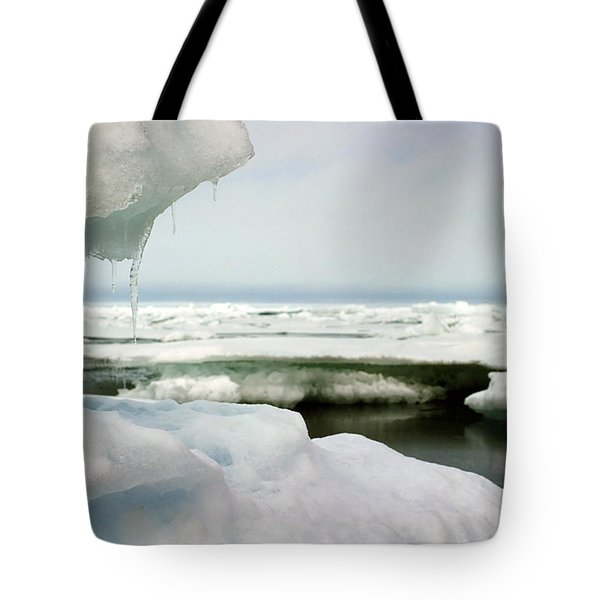 Tote Bag featuring the photograph Ice Barrow Alaska July 1969 By Mr. Pat Hathaway by California Views Mr Pat Hathaway Archives