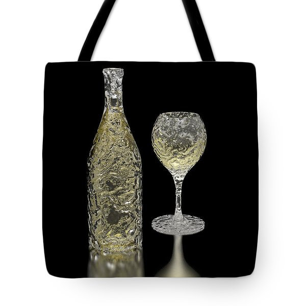 Ice Bottle And Glass Tote Bag by Hakon Soreide