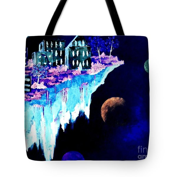 Ice City In Space Tote Bag