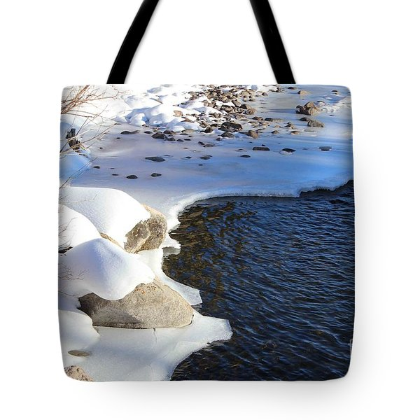 Tote Bag featuring the photograph Ice Cold Water by Fiona Kennard
