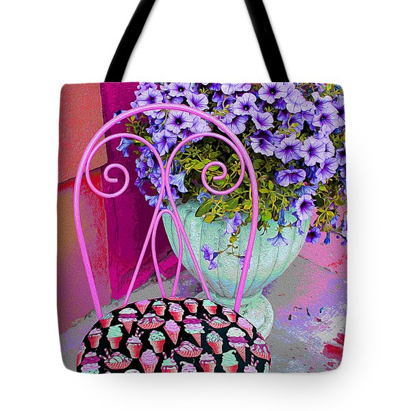 Ice Cream Cafe Chair Tote Bag