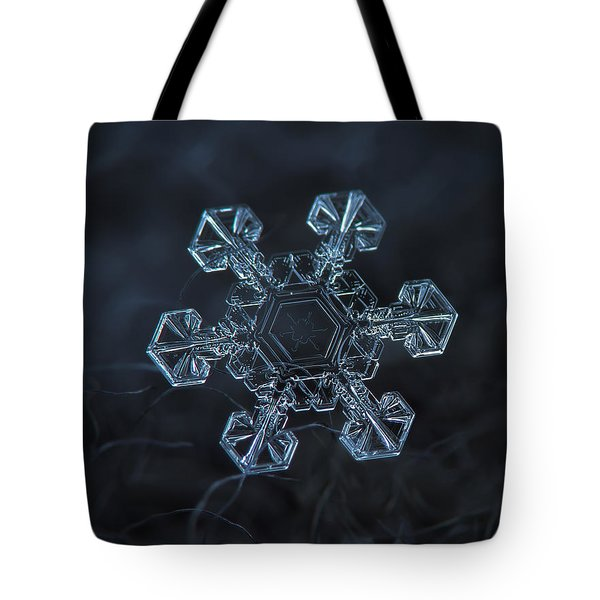 Tote Bag featuring the photograph Snowflake Photo - Ice Crown by Alexey Kljatov