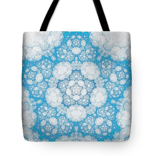 Tote Bag featuring the digital art Ice Crystals by GJ Blackman