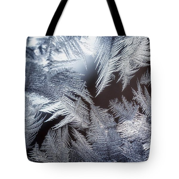 Ice Crystals Tote Bag