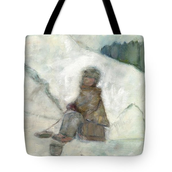 Ice Fishing Tote Bag by David Dossett