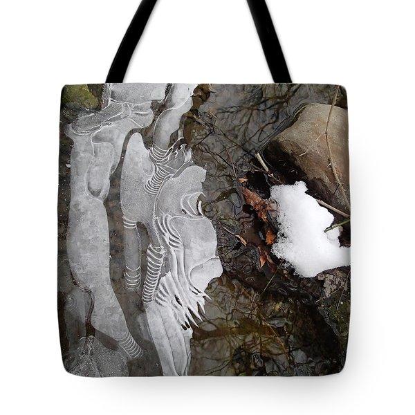 Ice Flow Tote Bag by Robert Nickologianis