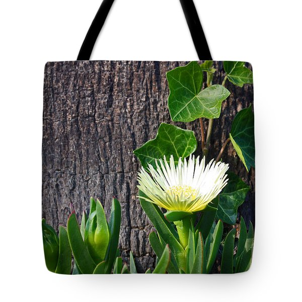 Ice Flower With Vine Tote Bag