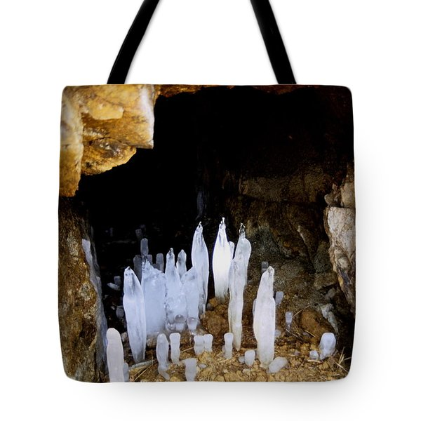 Ice In A Cave Tote Bag