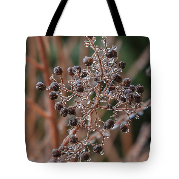 Ice On Berries Tote Bag