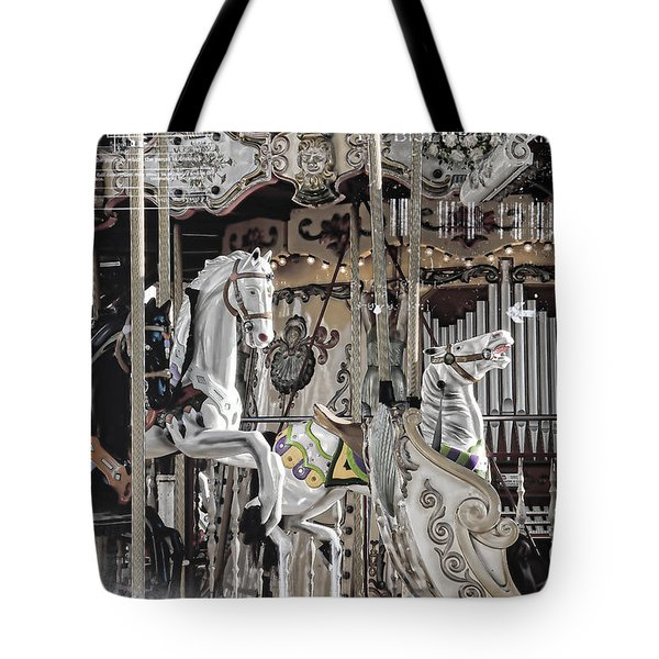 Ice On My Carousel Tote Bag by Evie Carrier