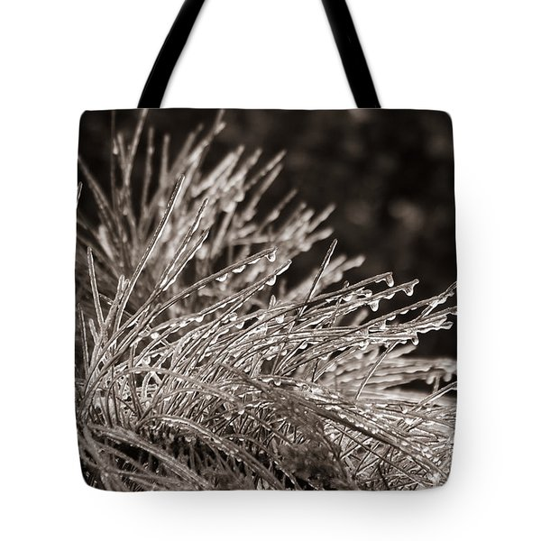 Ice On Pine Tote Bag