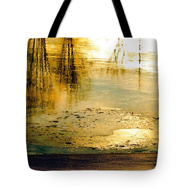 Ice On The River Tote Bag by Bob Orsillo