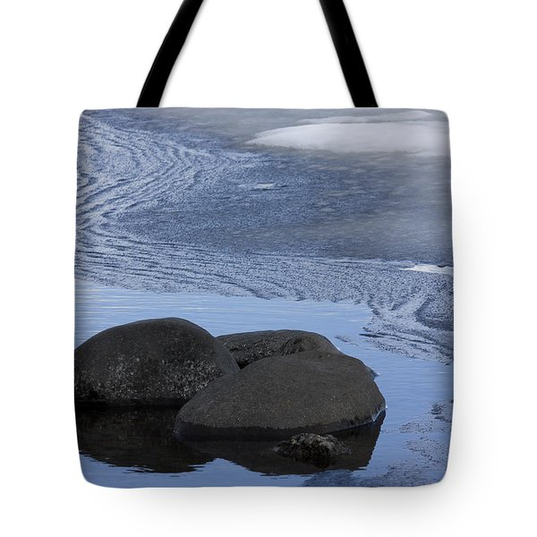 Ice Out At Pumice Point Tote Bag