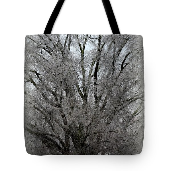 Tote Bag featuring the photograph Ice Sculpture by Lisa Wooten