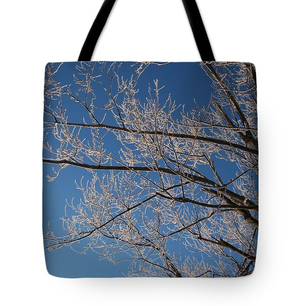 Ice Storm Branches Tote Bag