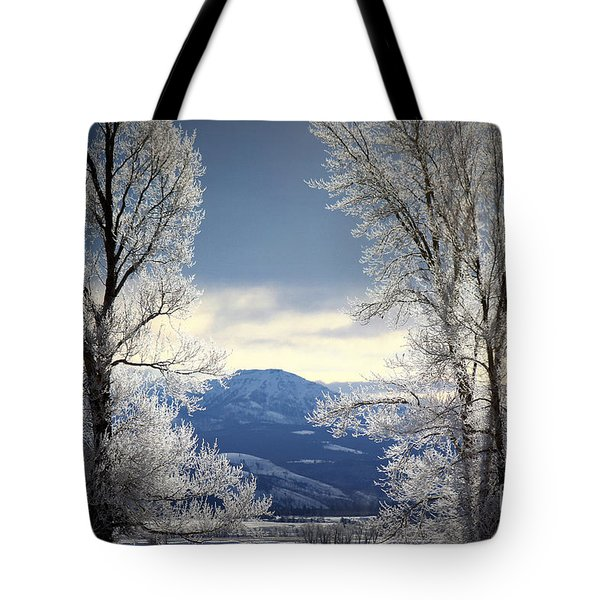 Ice Trees Tote Bag