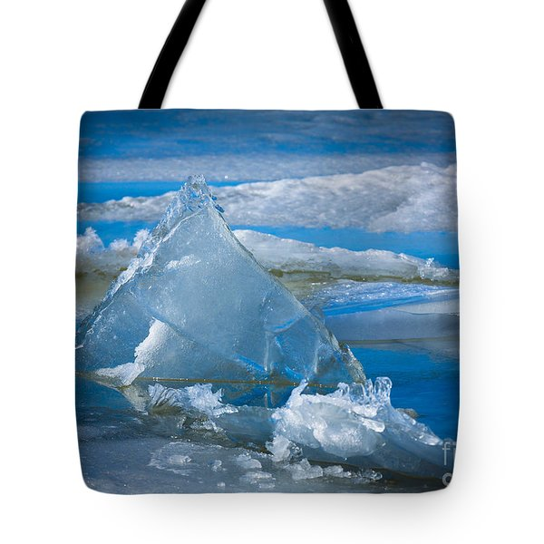 Ice Triangle Tote Bag by Inge Johnsson